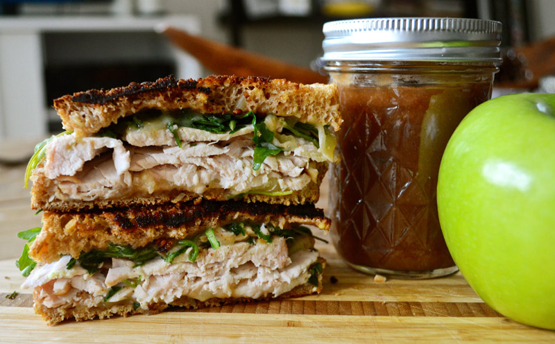 "Sandwich #214: ""Apple Butter Everything"" Turkey and Cheddar with Ap..."
